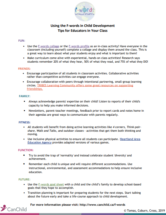 F words tip sheet for educators1